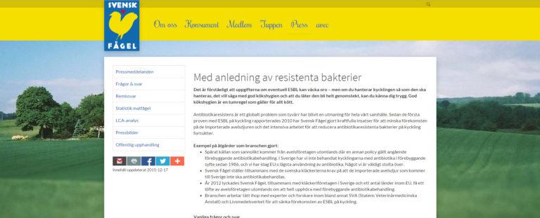 Med anledning av SVT:s Dokument inifrån om kyckling 17 december