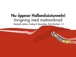 Hallandsåstunneln invigs med uppträdande av Måns Zelmerlöv och matmarknad