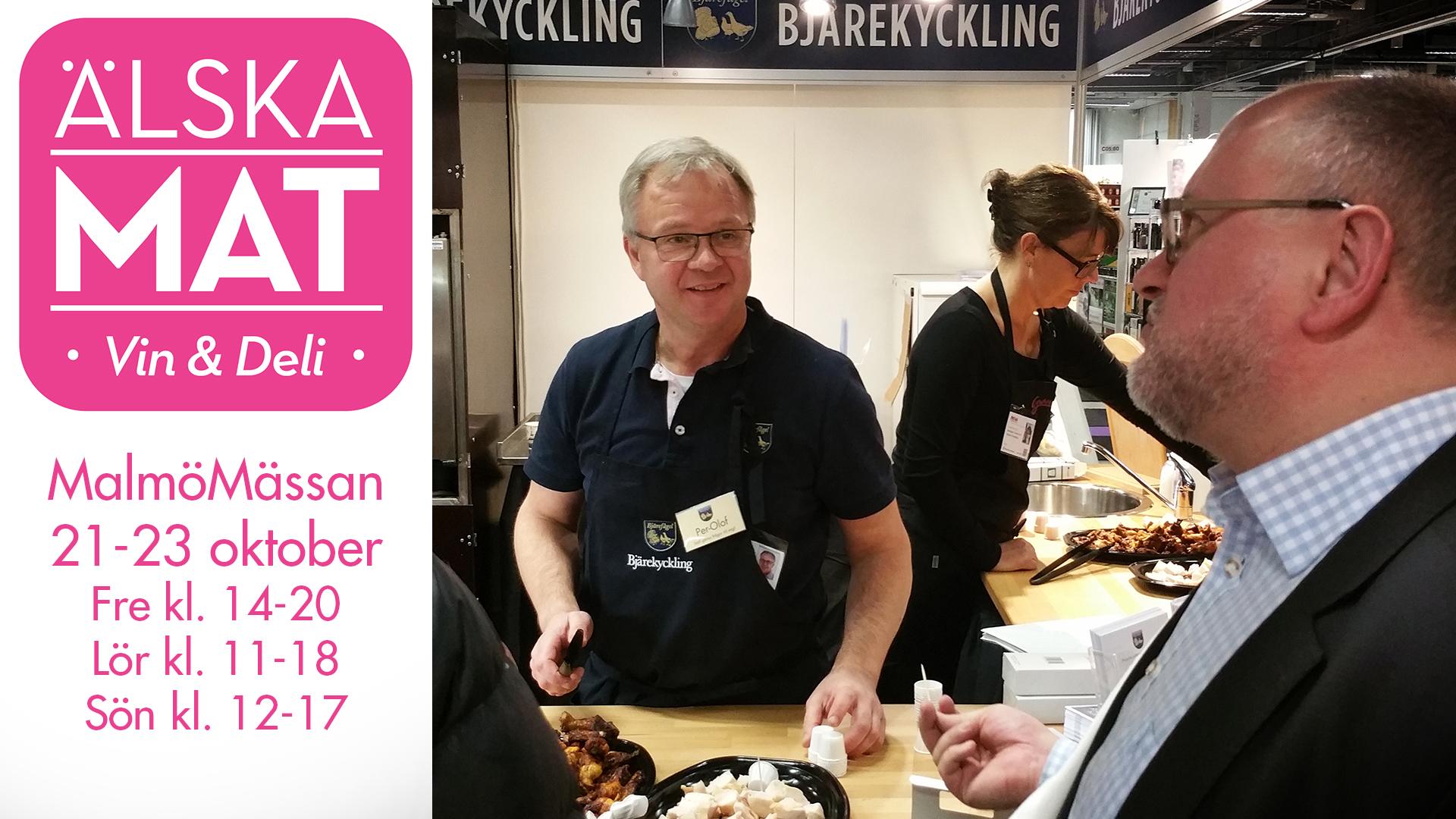 Hoppas vi ses på Älska mat i Malmö, 21-23 oktober!