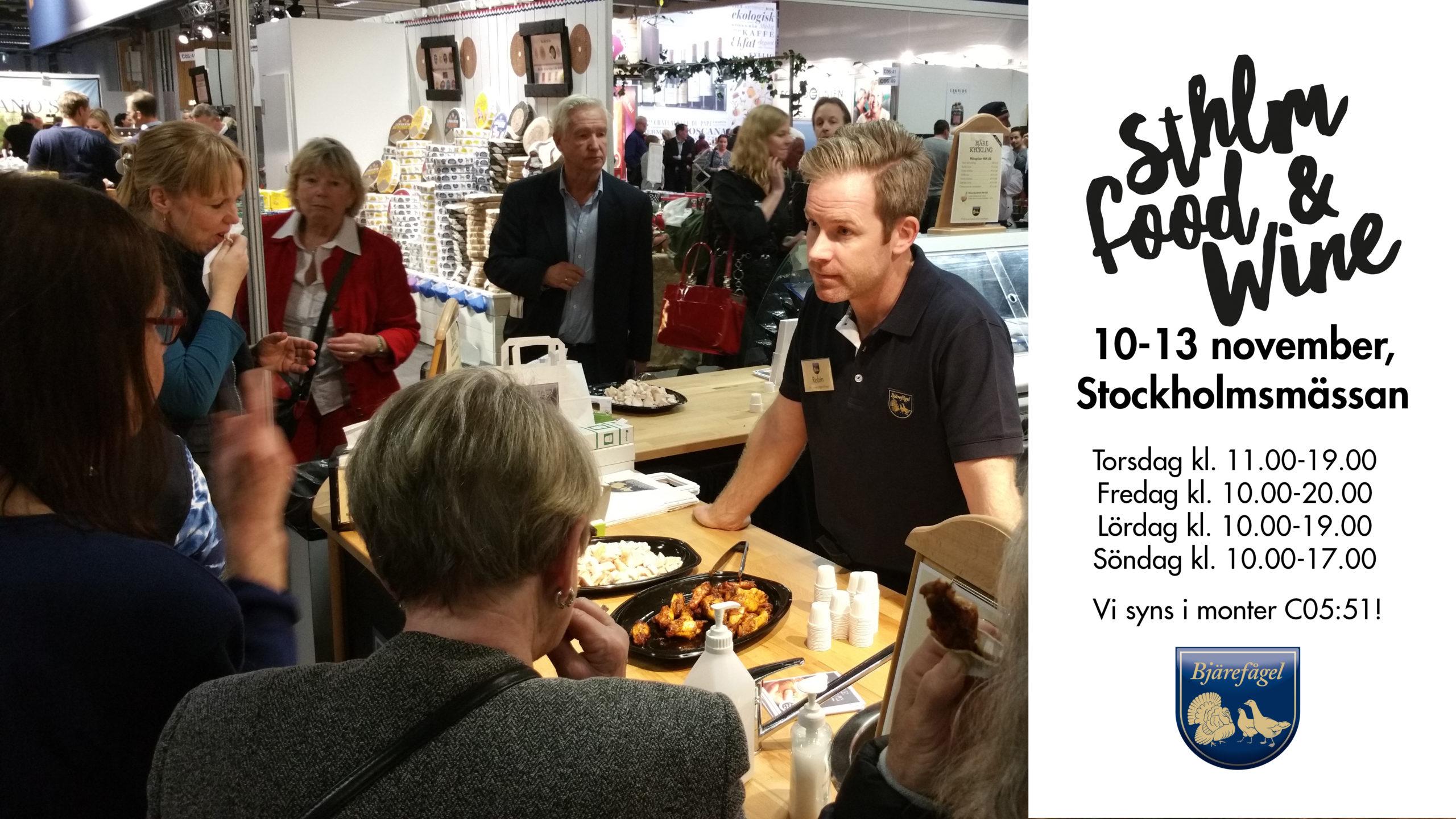 Sthlm Food & Wine, Stockholm, 10-13 november
