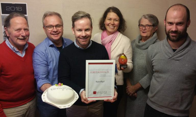 Bjärefågel är en av Båstads kommuns företagshjältar 2016!